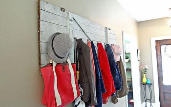 Barn Door Turned Coat Rack