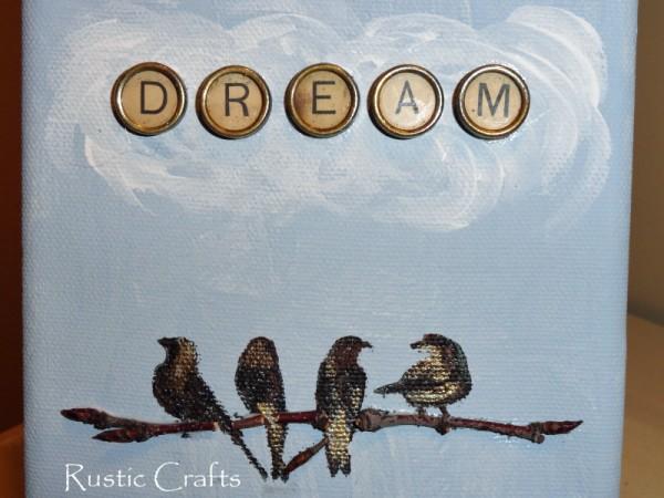 inspirational craft using typewriter keys, crafts