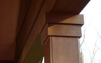 repairing woodpecker damage to a porch s cedar clad beams amp posts, home maintenance repairs, how to, porches, It looks so beautiful after the repairs were made