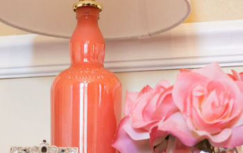 diy painted bottle lamp, crafts, home decor, lighting, repurposing upcycling