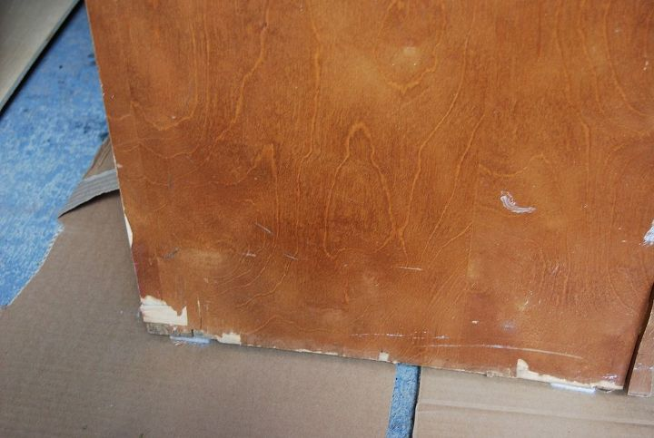 As you can see there was significant damage to the veneer at the bottom - went about 3 inches up the sides.