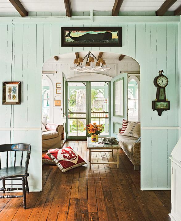 Shop the hall & living room > http://www.wayfair.com/CoastalLiving/HouseTour/Victorian-Cottage-E27