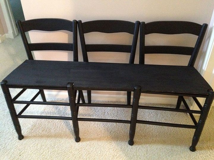 Make a Bench Out of 3 Chairs | Hometalk