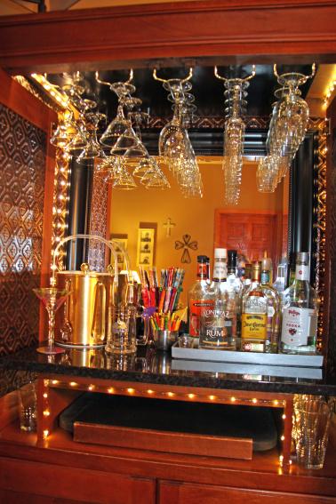 kristy s diy budget bar remodel, painted furniture, tiling, wall decor