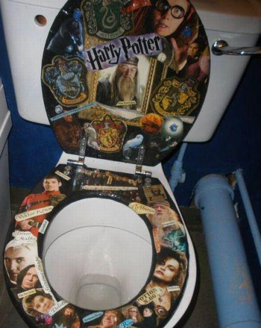 just saw this from a friend on facebook and i thought all you hometalkers would get a, home decor, Harry Potter Toilet