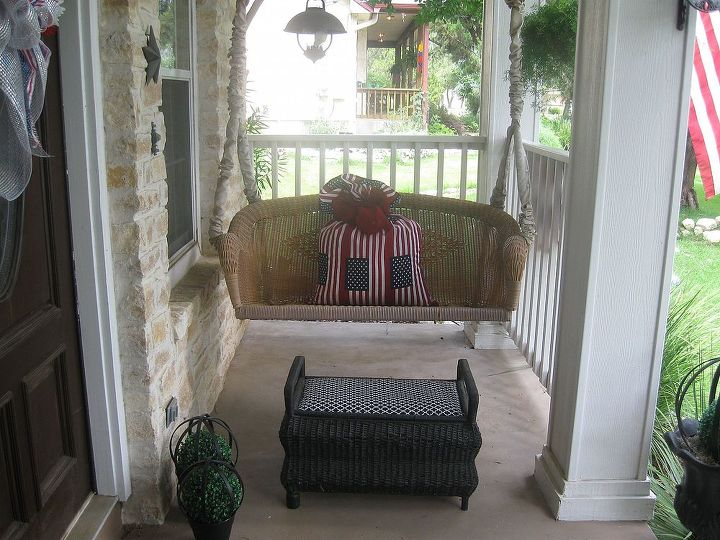 "Giant ""firecracker lookin"" pillow to sink into while sippin tea on the porch!"