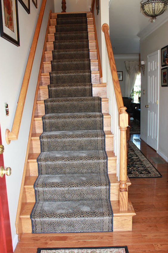 finally carpeting my stairs, flooring, stairs