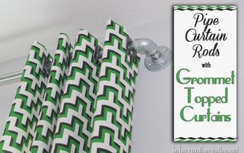 Grommet Topped Curtains and Pipe Curtain Rods