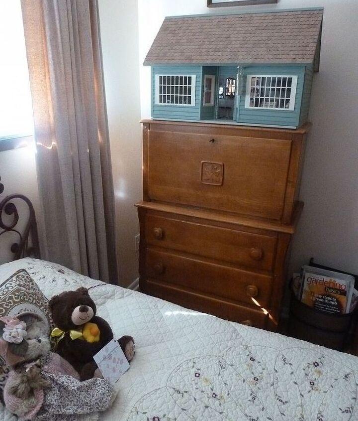 drop down dresser, painted furniture