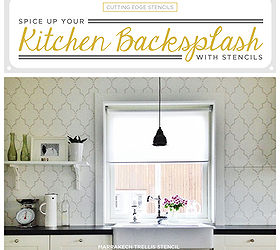 Spice Up Your Kitchen Backsplash With A Stencil, Kitchen Backsplash, Kitchen  Design, Painting