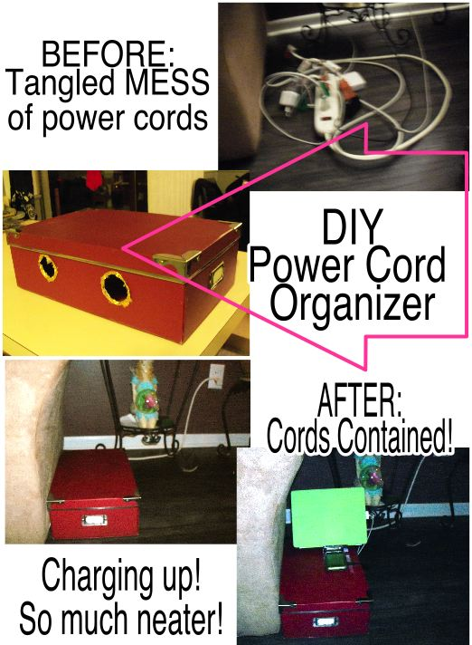 organize your power cords, electrical, organizing, How to make a power cord organizer