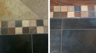 q is it normal for a tile floor to be higher than bordering the wood flooring if so is, flooring, tile flooring, tiling