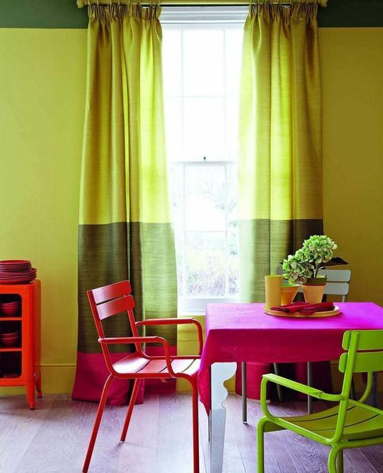 Color Blocking: Curtains