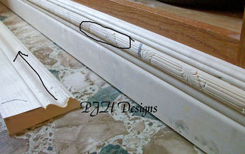 hi everyone you liked my kitchen counter tops so much i thought i d share my diy, home decor, kitchen cabinets, How to add decorative trim to base of cabinets
