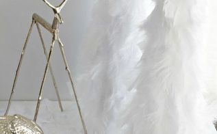 wintery snow feather trees, crafts, home decor