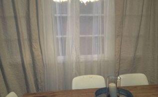 diy drop cloth curtains, crafts, reupholster, window treatments, Easy DIY drop curtains