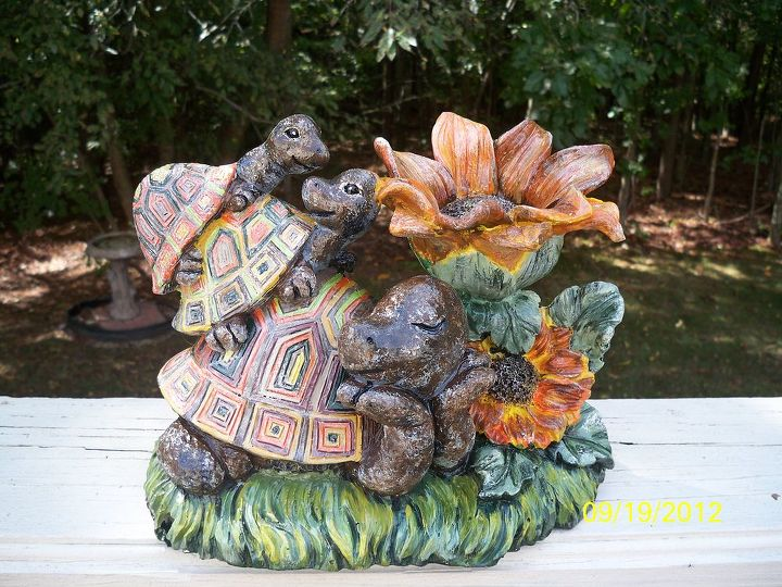 Adding lots of color - This whimsical family of turtles had such sweet expressions on their faces - they just begged to be BOLD!!
