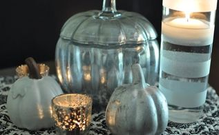 diy faux mercury glass pumpkin pottery barn knock off tutorial, seasonal holiday d cor