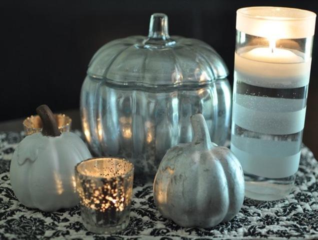 diy faux mercury glass pumpkin pottery barn knock off tutorial, seasonal holiday d cor