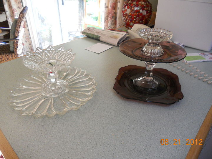 q new creations of cd disc spinners and tiers, crafts, hers on the left mine on the right