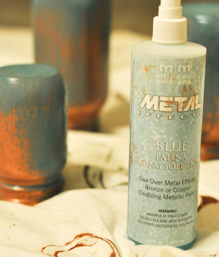 Spray with Patina Activator solution. It's THAT easy.