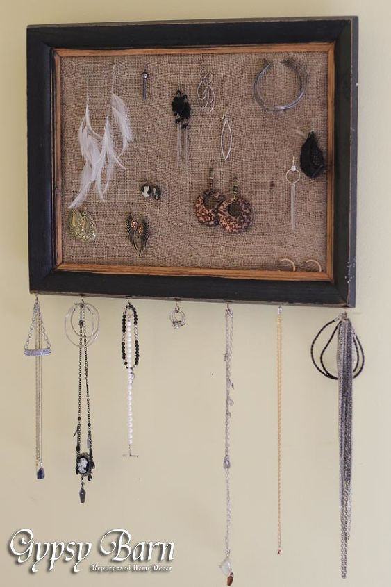 easy peasy jewelery display, cleaning tips, repurposing upcycling