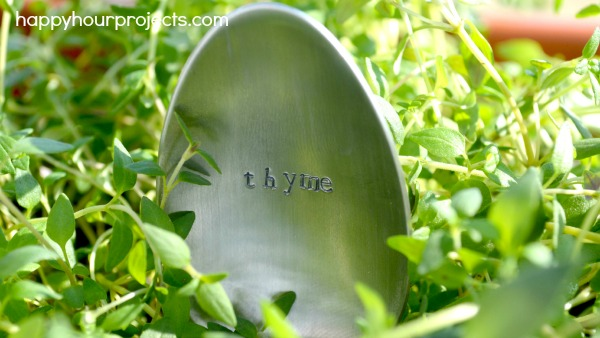 stamped spoon and fork garden markers, crafts, gardening, repurposing upcycling