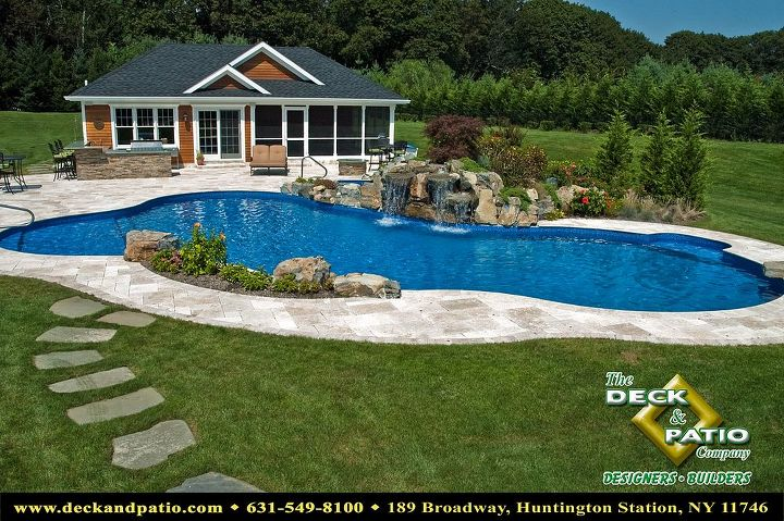 Pool house with screened porch