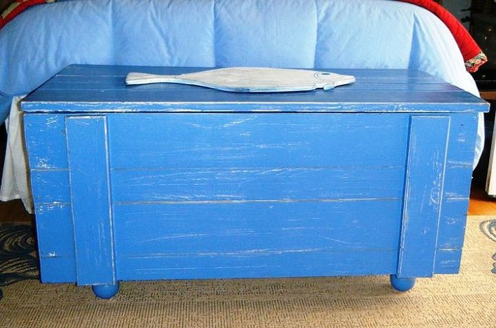 blanket chest made out of old cabinet doors, diy, painted furniture, repurposing upcycling, woodworking projects, Chest made out of old kitchen cabinet doors
