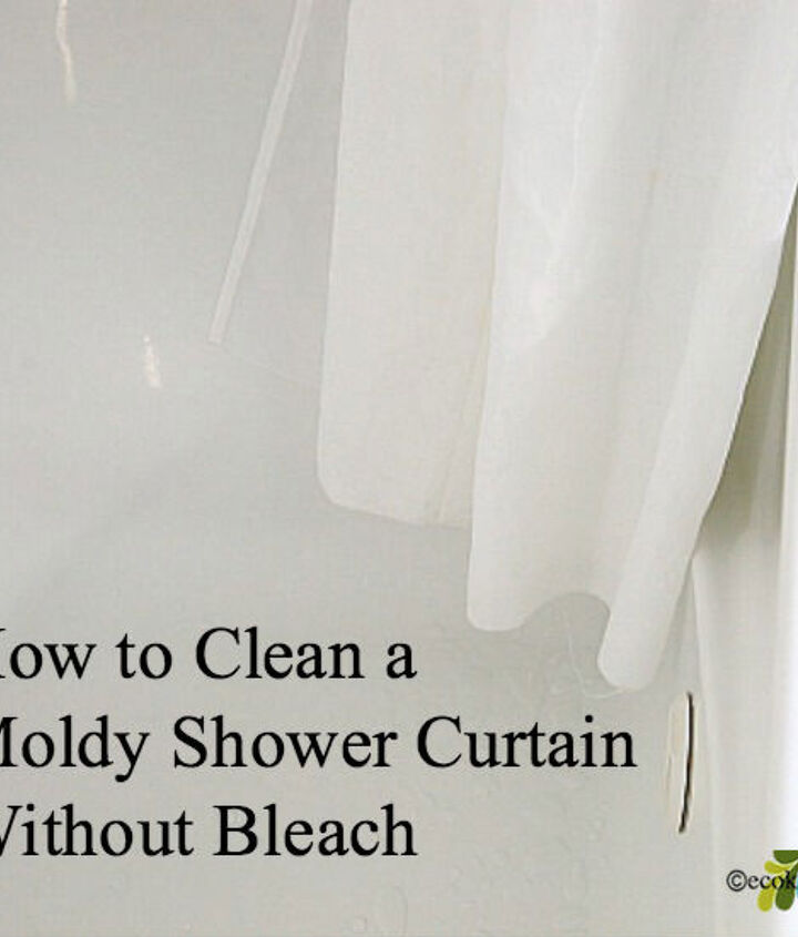 how to clean moldy shower curtain without bleach, bathroom ideas, cleaning tips