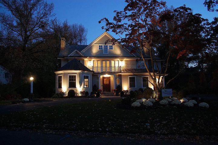landscape renovations, curb appeal, decks, landscape, outdoor living, Our LED Low Voltage Landscape Lighting System