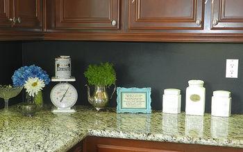 My $10 Kitchen Chalkboard Backsplash