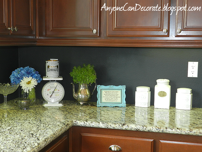 PAINT your drab backsplash to look like TILE!!! {Sawdust and Embryos}