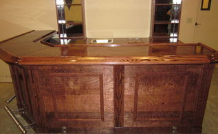 custom bar and bar back, woodworking projects