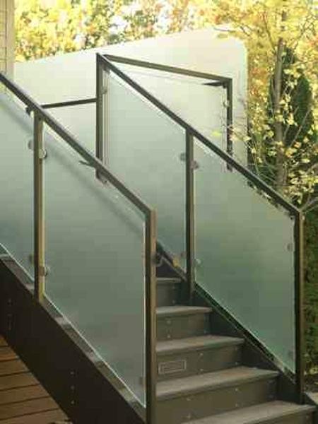 Stair to rear garden.