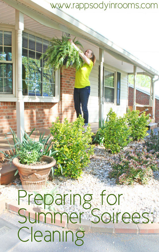 preparing for summer soirees step one cleaning porches, cleaning tips, curb appeal, outdoor furniture, porches
