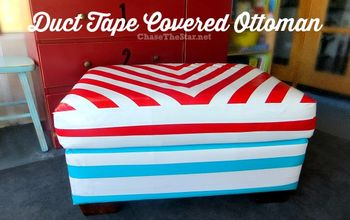 Duct Tape Covered Ottoman