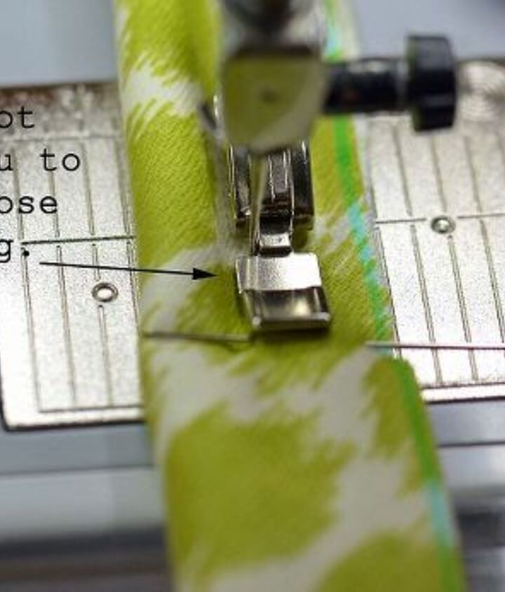 You will need a zipper foot to insert the cording into the piping.