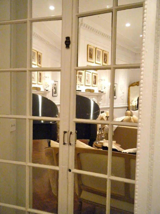 Mirrors enlarge a space and reflect light.  You can add mirrors to closet doors, furniture or simply hang them on the wall to make a space feel larger.