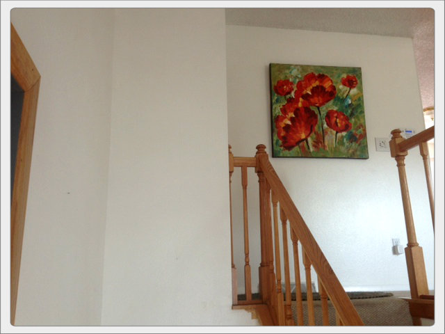 q need help on how to paint a raised ranch open floor plan, home decor, home maintenance repairs, how to, painting, Here are the top of the stairs from entryway