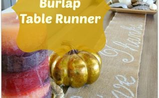 now you can have a beautiful burlap table runner without, crafts, Easy DIY tutorial on how to make a table runner