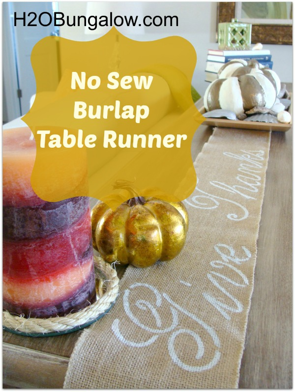 Easy DIY tutorial on how to make a table runner