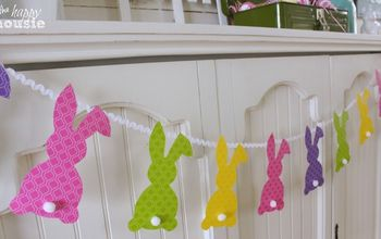 Easy Easter Bunny Bunting {PB Kids Knock Off}