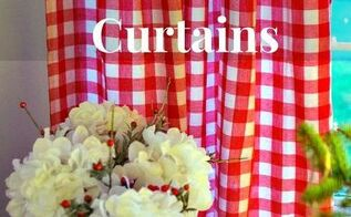 christmas curtains made from tablecloths, christmas decorations, repurposing upcycling, seasonal holiday decor, reupholster, window treatments, The red and white goes perfectly with my Christmas decor