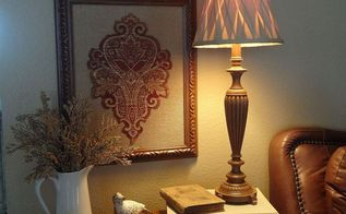 a small piece of expensive fabric can make inexpensive artwork, crafts