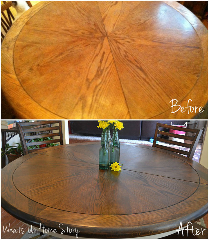 My first wood staining project our craigslist find - Craigslist modesto ca farm and garden ...
