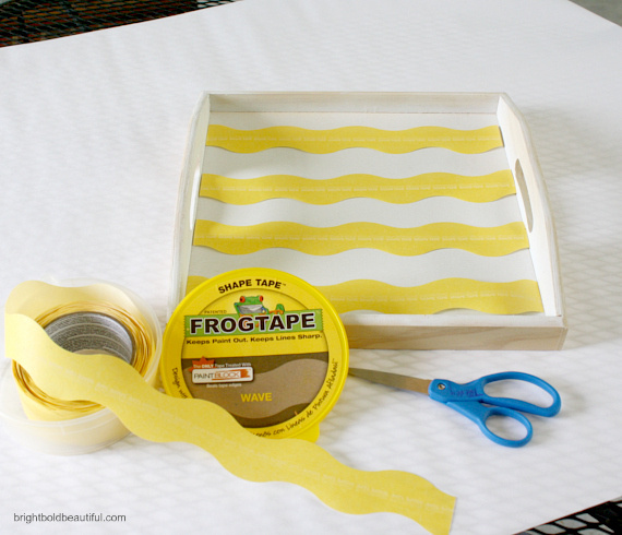 Cut FrogTape into equal pieces