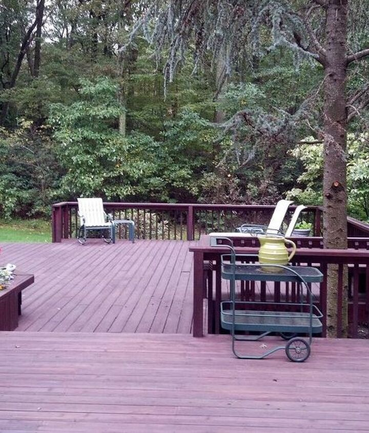 Classic Deck and Patio Company 2 level deck angular deck