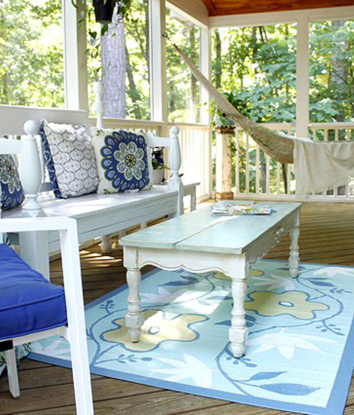 screen porch makeover, home decor, painted furniture, repurposing upcycling