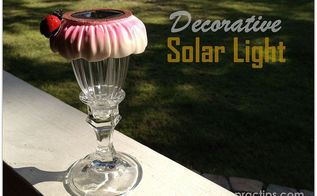 diy decorative solar light, crafts, lighting, outdoor living